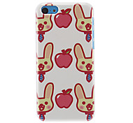 Rabbits and Apple Pattern Hard Case for iPhone 5C