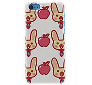 Kaninchen-und Apple-Muster Hülle für iPhone 5C