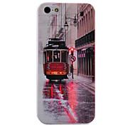 Retro Trolley Bus Pattern Terug Case voor iPhone 5/5S
