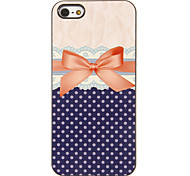 Graceful Bowknot Muster PC Hard Case mit 3 Lunch HD-Display-Schutzfolien für das iPhone 5/5S