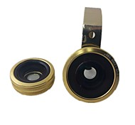 Universal 3-in-1 Clip On Fish Eye Macro Lens 0.67X Wide Angle Lens for Cell Phone and Tablet
