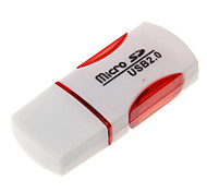 Mini USB Memory Card Reader (Green+Red)