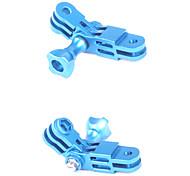CNC Aluminum Blue GoPro Mount Three-way Pivot Arm Set