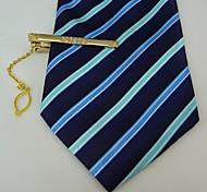 métal argenté cadeaux des hommes gravé avec clip cristal de cravate