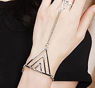 Punk 7.3cm Women's Gold Alloy Chain & Link Bracelet(1 Pc)