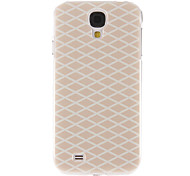 Pink Grids Pattern Plastic Protective Hard Back Case Cover for Samsung Galaxy S4 I9500