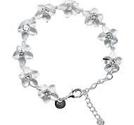 Sweet 7.3cm Women's Silver Alloy Charm Bracelet(1 Pc)