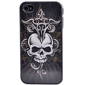 3D Ruthless Skull with Sharp Knife Pattern Back Case for iPhone 4/4S