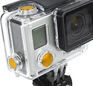 Acessórios GoPro Botão Para Todos liga de alumínio amarelo