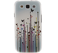 Butterflies in Grasses Pattern Plastic Protective Hard Back Case Cover for Samsung Galaxy S3 I9300