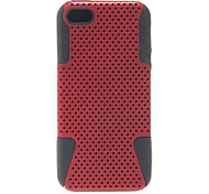 2-in-1 Design Network Shape Hard Case with Black Silicone Inside for iPhone 5C (Assorted Colors)