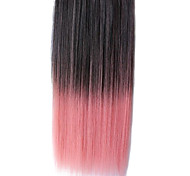 25-Zoll-Clip in Synthetic Schwarz und Pink Gradient Straight Hair Extensions mit Clips 5
