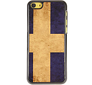 Flag of Sweden Pattern PC Hard Case with 3 Packed HD Screen Protectors for iPhone 5C
