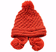 Women's Pure Color Winter Knit Hat(52-58cm)