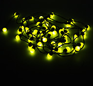 5M 3W 50-LED Yellow Light Ball Shaped LED Strip Light (220V)