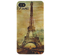 Eiffel Tower Pattern Back Cover Case for iPhone 4