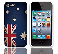 Vintage The Australian Flag Design Hard Case with 3-Pack Screen Protectors for iPhone 4/4S