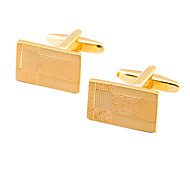 Luxurious Square Gold Gold Plated Cufflinks(1Pair)