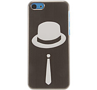 Gentlemen Style Cap Pattern Hard Case for iPhone 5C