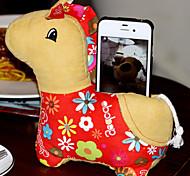 Sentado-Celular precioso policromada Stuffed Doll Horse