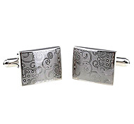 Memorable Square Silver Plated Cufflinks  (1 Pair)