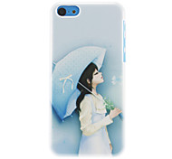 Elegant Girl with Umbrella Pattern Hard Case for iPhone 5C