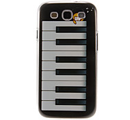 Piano Dream Pattern Plastic Protective Hard Back Case Cover for Samsung Galaxy S3 I9300