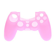 Silicone Skin Case and Thumb Stick Grips for PS4 Controller (Pink)