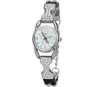 Women's Little Round Dial Pu Band Quartz Analog Bracelet Watch (Assorted Colors)