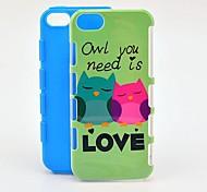Сова вам нужно это любовь противоударный ТПУ и жесткий чехол для iPhone 5/5S