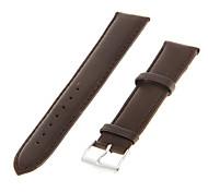 Unisex 20mm Echtes Leder-Uhrenarmband (braun)