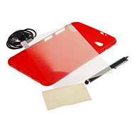 Color sólido TPU película de pantalla Soft Case + Stylus Pen + HD + Cable USB para Samsung Galaxy P3100 Tab2