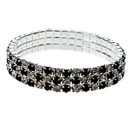 Fashion 5Cm Women'S Black And White Crystal Tennis Bracelet(Black And White)(1 Pc)