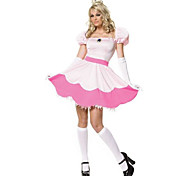 Princess Peach Pink Polyester Women's Carnival Party Costume