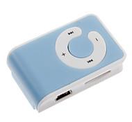 Tarjeta TF MP3 Player con lector de Bolsa Clip Azul y Blanco