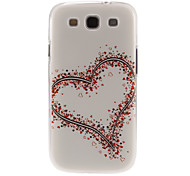 Flower Hearts Pattern Plastic Protective Hard Back Case Cover for Samsung Galaxy S3 I9300