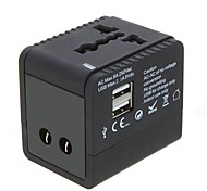 2USB Worldwide Universal Travel Adapter Charger US EU UK AU Plug 5V 2.1A