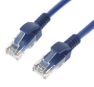 Cat5 RJ45 M / M Cable de red Ethernet azul (15M)