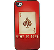 Poker of A Pattern PC Hard Case with 3 Packed HD Screen Protectors for iPhone 4/4S