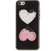 Cristais na moda Coração enchido Projetado Hard Case para iPhone 5/5S (cores sortidas)