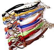 Fashion 18Cm Women'S Multicolor  Leather Bracelet(Red& More)(1pc)