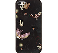 Beautiful Flying Butterflies Pattern PC Hard Case with 3 Packed HD Screen Protectors for iPhone 5/5S