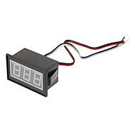 "Resistente al agua 0.56 ""3 dígitos LED rojo del voltímetro - Negro (DC 0-100V)"
