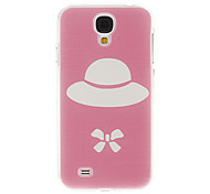 Pink Ground Hat Pattern Plastic Protective Hard Back Case Cover for Samsung Galaxy S4 I9500