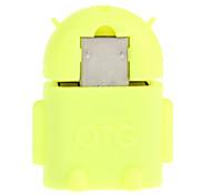 Micro USB 2.0 a USB 2.0 M / F OTG Adaptador amarillo