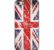 The Union Jack Pattern PC Hard Case with 3 Packed HD Screen Protectors for iPhone 5/5S
