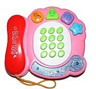 Electronic Musical Pink Enlightment Phone Toy for Children