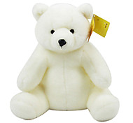 Large-sized Seated White Stuffed Polar Bear Doll Gift