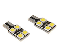 T10 5W 8x5060SMD 350LM 5500-6500K refrescan la lámpara LED de luz blanca para coche (12V)