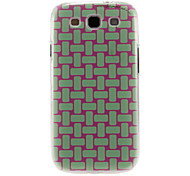 Knit Strips Pattern Plastic Protective Hard Back Case Cover for Samsung Galaxy S3 I9300